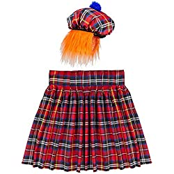 Widmann - Kit sombrero y falda escocés