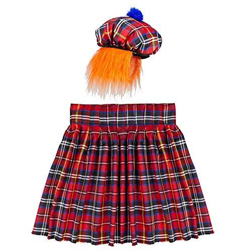 Widmann 01107 - Schotte Set, Kilt und Hut mit Haar