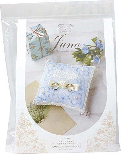 Kit di nozze Hamanaka Juno (Juneau) fiorellino di cuscino anello H4.3.1.-1.5.6.