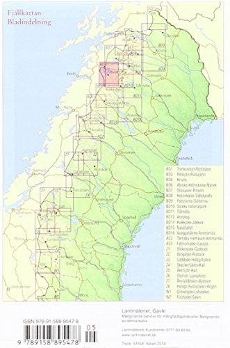 Fjällkartan 1 : 100 000 BD9 Padjelanta - Sulitelma Bergwanderkarte: Alle Infos bei Amazon