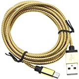 HuntGold Haute vitesse 2M charge rapide data câble micro USB corde pour Android Phone Samsung or