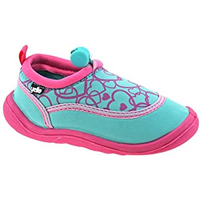 Yello Girls Infants Pink Turquoise Hearts Aqua Socks Beach Shoes FW930-Turquoise-UK 11 (EU 29)