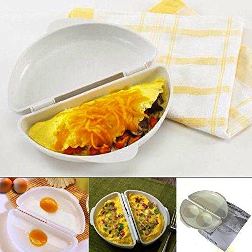 Bluelover Due Uova A Microonde Frittata Fornello Pan Microwavable Fornello Frittata Vapore Dell'Uovo - Commerciale Spargisale