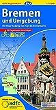 ADFC-Regionalkarte Bremen und Umgebung mit Tagestouren-Vorschlägen, 1:75.000, reiß- und wetterfest, GPS-Tracks Download: Mit Weser-Radweg, von Hoya bis Bremerhaven (ADFC-Regionalkarte 1:75000)