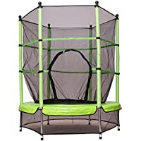 Preisvergleich für FDS Costway Trampolin Gartentrampolin Kindertrampolin Indoortrampolin Outdoor Trampolin mit Sicherheitsnetz Sicherheitstrampolin Ø 140 cm