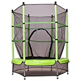 Costway Trampolin Gartentrampolin Kindertrampolin Indoortrampolin Outdoor Trampolin mit Sicherheitsnetz Sicherheitstrampolin