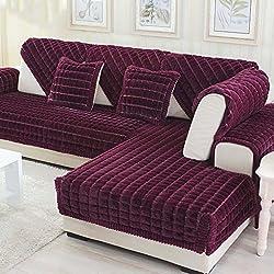 MEHE@ Romantik stilvoll Persönlichkeit kreativ Dick einfache Moderne Sofa Kissen Winter Ledersofa Kissen Sofa-Sets Sofa Handtücher Sofaabdeckung Sofa-Überwürfe (größe : 90 * 180cm)