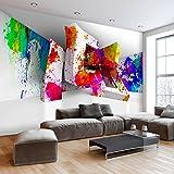 murando - Fototapete 3D Effekt 350x256 cm - Vlies Tapete - Moderne Wanddeko - Design Tapete - Wandtapete - Wand Dekoration - Abstrakt bunt Optik a-C-0099-a-a