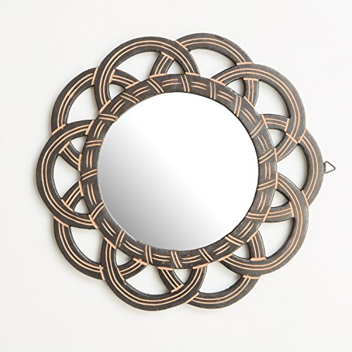 rusticity madera vanity espejo de pared | hecho a mano | (11.5in X 11,5en)