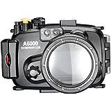 Neewer 40 m 130 m boîtier de caméra sous-marine Étanche pour Sony A6000 avec objectif de 16–50 mm
