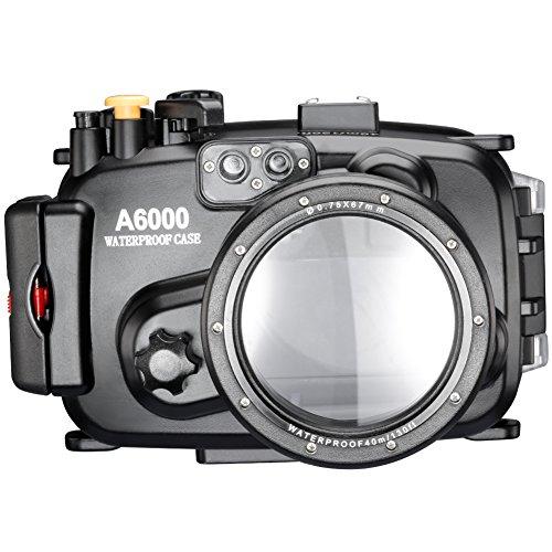 Neewer® 40m 130ft Wasser PC Gehäusekamera Unterwassergehäuse für Sony A6000 mit 16-50mm Objektiv