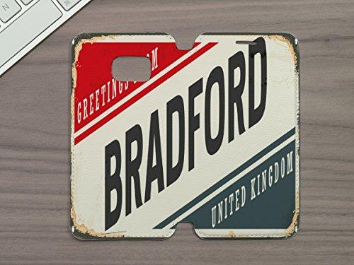 Bradford Leder (Handy Tasche passend fÃŒr Samsung S6 Retro Metropole Bradford England)