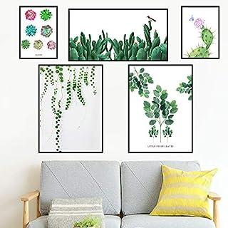 Wandaufkleber Dekorative Malerei Grün Blatt Sukkulenten Wohnzimmer Schlafzimmer Wasserdichte Nacht Aufkleber Einfache Moderne Wand Selbstklebend