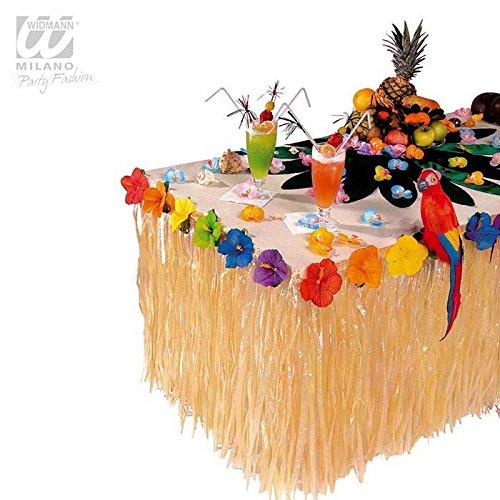 �Kostüm für Erwachsene Deco Tisch Tropische mit Blumen Hibiskus, mehrfarbig, Einheitsgröße (Blume-kostüme Für Erwachsene)