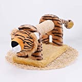 CWZJ Katzenspielzeug-Simulation Tier Tiger Katzenklettergerahmen Haustier liefert Schleifkrümmerkratzbrett
