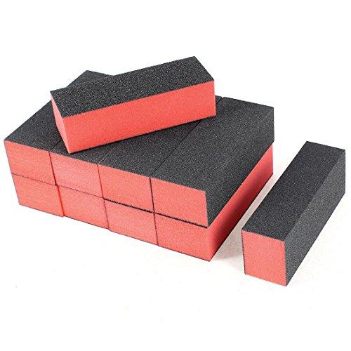 sourcingmap-4-camino-buffing-bloquear-manicura-pulidora-lima-de-unas-negro-rojo-10-piezas