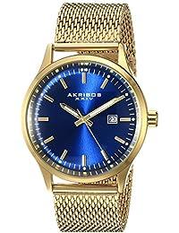 Akribos XXIV AK630TN - Reloj de cuarzo para hombres, color oro