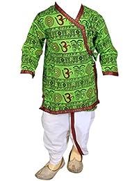 FOCIL GreenOm Printed Dhoti & Kurta Pant Set For Kids