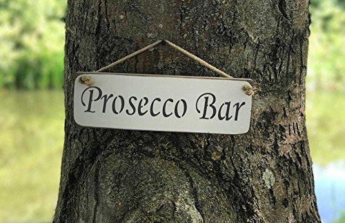 Prosecco Bar Schild Massivholz Home Decor Küche Schild handgefertigt von Vintage Produkt Designer Austin Sloan