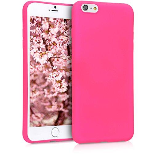 kwmobile Apple iPhone 6 Plus / 6S Plus Hülle - Handyhülle für Apple iPhone 6 Plus / 6S Plus - Handy Case in Neon Pink