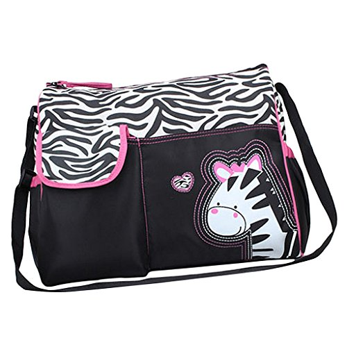 Generic Baby Diaper Nappy Changing Bag Mummy Handbag Zebra Pattern