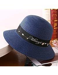 Cappello da Sole da Donna Cappello - Cappello di Paglia Donna Estate  Visiera Parasole Cappello da Spiaggia all aperto Cappello di Paglia Visiera  da… 49b582c3c757