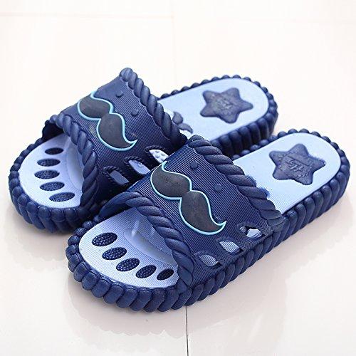 DogHaccd pantofole,Cool pantofole femmina estate home soggiorno con stanza da bagno en-suite non-slip carino massaggio per coppie ciabatte per gli uomini Blu scuro4