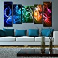 WATCH Colorful Abstract Clock in Canvas 5pcs