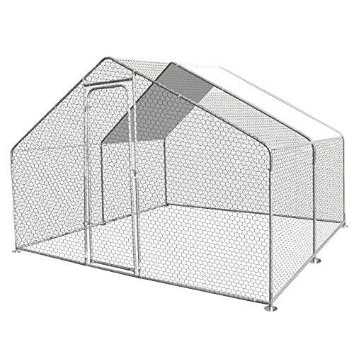 IDMarket - Enclos poulailler 9M² Parc grillagé 3x3M...