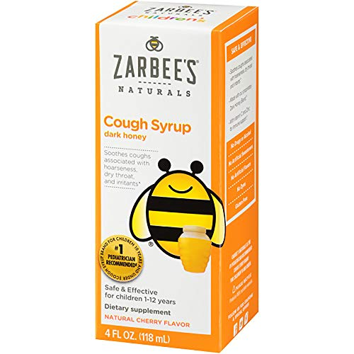 Zarbee's, All-Natural Children's Cough Syrup, 12 Months+, Natural Cherry Flavor, 4 fl oz - Kehle Sirup