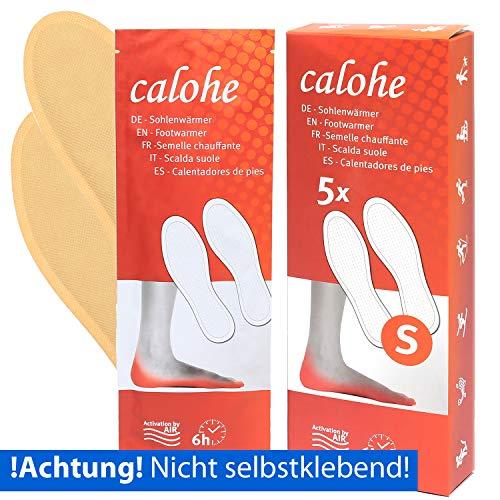 calohe Fußwärmer - Sohlenwärmer für die kalte Jahreszeit I Wärmepad für die Füße und Zehen I 10x Wärmepads, Größe L