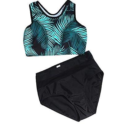 MOSE 2018 Leaf Print Vest Swimsuit High Waist Bikini Falbala High-Waisted Bikini Set Push-Up Swimsuit Bathing