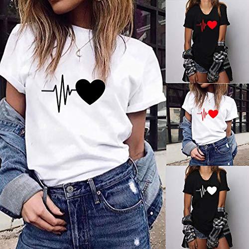 Rcool Magliette Donna Manica Corta Camicetta Donna Elegante Camicia Top Tumblr Ragazza T Shirt Donna Divertenti Stampa Estive Casual Maglietta Cotone