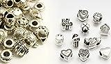 CITY, 40 x Perlescharmes in argento tibetano compatibili Braccialetto Pandora gioielli