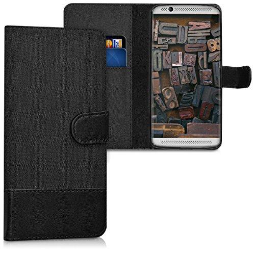 kwmobile ZTE Axon 7 Mini Hülle - Kunstleder Wallet Case für ZTE Axon 7 Mini mit Kartenfächern und Stand
