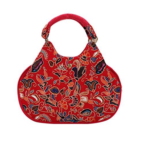 YouPue Motif Floral Sac à Main Décontracté Loisir Shopping Sac à Dos Femme