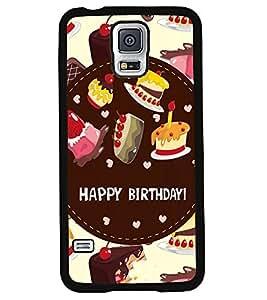 Printvisa 2D Printed Birthday Designer back case cover for Samsung S5 Mini - D4312