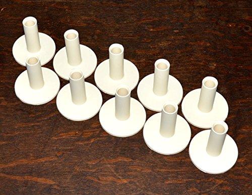 10 x Gummitees 48mm für die Driving-Range Matte | Rangetees | Rubbertees | Wintertees | Höhe 4,8 cm - ideal für Hölzer, Hybride, Rescue und lange Eisen -