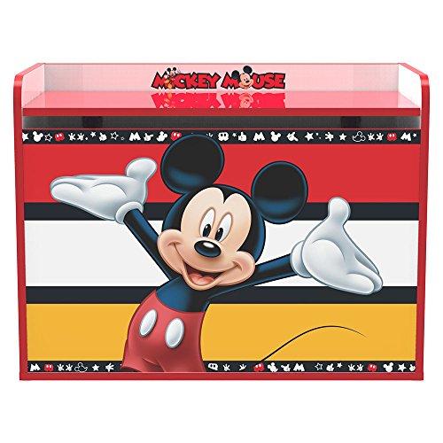 Stor Coffre à jouets d'enfant | MICKEY MOUSE STRIPES | Disney - Dimensions 80 x 60 x 40 cm. - Plusieurs personnages