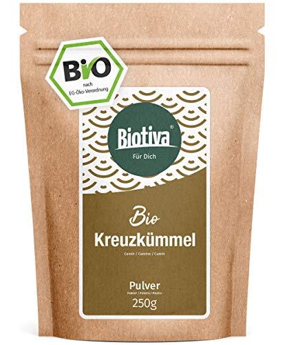 Kreuzkümmel gemahlen (Bio, 250g) - Kumin- oder Cuminpulver in Top Qualität - 100% Bio-Qualität - Abgepackt und kontrolliert in Deutschland (DE-ÖKO-005)