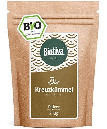 Kreuzkümmel gemahlen (Bio, 250g) - Kumin- oder Cuminpulver in Top Qualität - 100{8144588b4be7b9c8204ebc86cae0b830e1b1ee7a420e0798fe10159428bea94a} Bio-Qualität - Abgepackt und kontrolliert in Deutschland (DE-ÖKO-005)