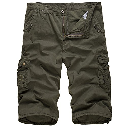 Men's Military Panties Printed Cargo Camouflage Beach Shorts G420 ArmyGreen
