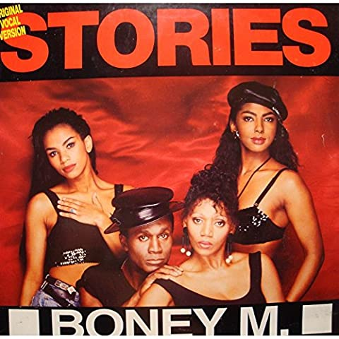 BONEY M feat LIZ MITCHELL stories/rumours MAXI 1989 HANSA VG+