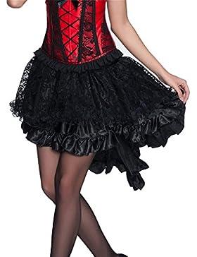 Faldas Mujer Negro Goticos Steampunk Irregular Ropa Dama Moda Fashionista Falda Años 50 Vintage Fiesta Coctel...