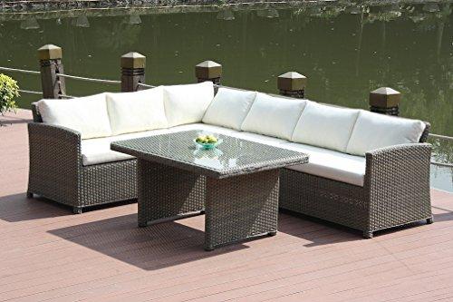 talfa Polyrattan Gartenmöbel Essecke Koona - grau