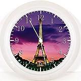 New Eiffelturm Wanduhr 25,4cm Nice Geschenk und Raum Wand Decor W109
