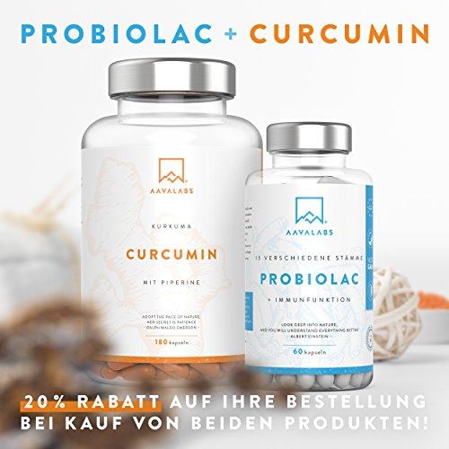 PROBIOLAC® Kulturen Komplex [60 Mrd KBE je Tagesdosis] – 15 Darmbakterien – 60 Vegan Kapseln für Darmflora – Enthält Lactobacillus Acidophilus und Milchsäurebakterien – 2