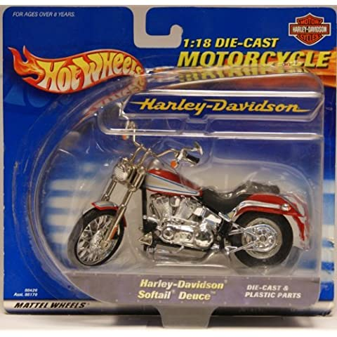 1:18 Die-Cast Harley Davidson Softail Deuce Motorcycle - Hot Wheels Motorcycle Series by Mattel