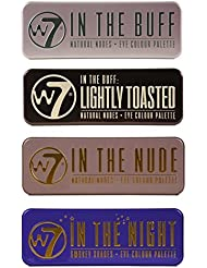 W7 Ultimate Eye Shadow Palette Collection,In the Buff, In The Nude, In The Night & In the Buff Lightly Toasted