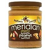 Meridian Bio glatte Erdnussbutter - ohne Zuckerzusatz und ohne Zusatz von Salz - 280g